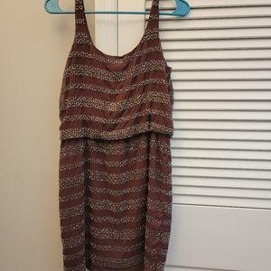 Beaded Maroon Dress
